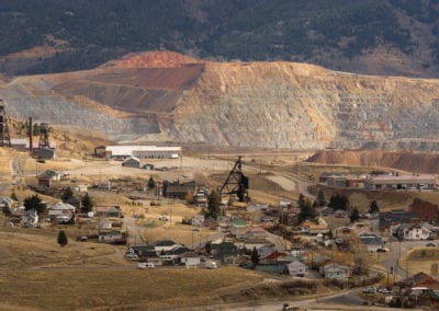 Mining Activities Equipment Houses Walkerville Butte Montana USA